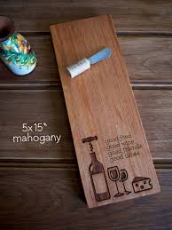 how to engrave a cutting board 5x15 cheese board engraved wood cutting board birthday wedding