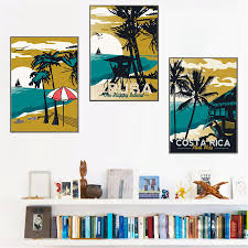 online buy wholesale vintage hawaii from china vintage hawaii vintage poster hawaii sea beach art canvas painting landscape picture modern home decor child room mural