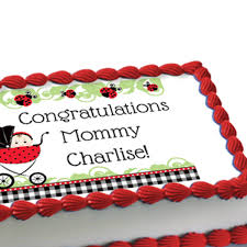 Ladybug Themed Baby Shower Cakes - edible baby shower cake decorations 28 images edible baby boy