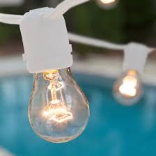 Clear Patio String Lights Commercial Patio String Lights Clear A15 Bulbs White Wire Yard