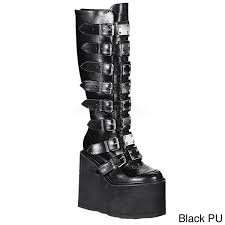 womens boots bc demonia swing 815 s knee high boots free shipping today