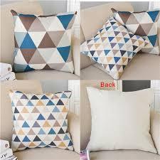 Sofa Pillow Cases Triangle Lattice Chair Office Car Cushion Pillow Case Throw Pillow