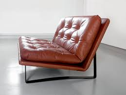 Esszimmerst Le Leder Braun Vintage Zweisitzer Sofa In Cognacfarbenen Leder Von Kho Liang Ie