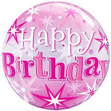 happy birthday balloon 22 happy birthday pink sparkly balloon
