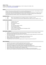 product manager resume product manager resume best product