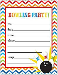 amazon com 24 bowling fill in kids birthday party invitations