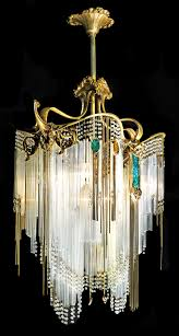 art nouveau chandelier in home decoration ideas designing with art