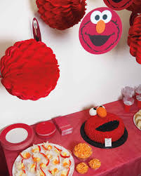 elmo birthday party celebrating with elmo birthday party martha stewart