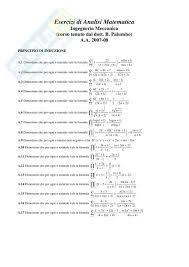 dispense analisi 1 di analisi matematica