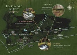 Map Walking Distance Tollymore Forest Trek Game Of Thrones Tours Ltd