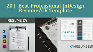 20 best professional indesign resume cv template 2017