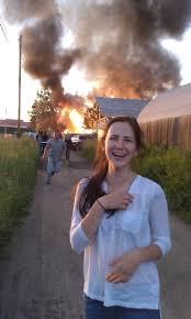 Russian Girl Meme - russian girl in front of burning russian village rebrn com