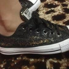 Sepatu Converse Black sepatu converse blackgold original preloved fesyen wanita sepatu
