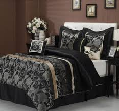 King Size Comforter Luxury 7 Piece Comforter Set King Size Premium Black Gold Grey