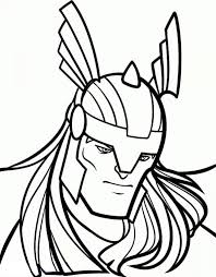 printable thor coloring pages 85256
