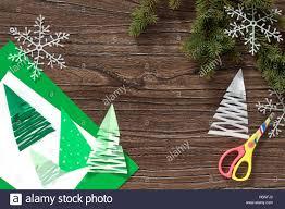 christmas frame the child makes paper fir tree children u0027s art