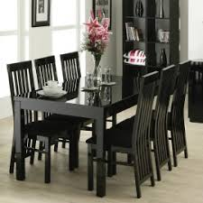 Black Lacquer Dining Room Chairs | black lacquer dining table 6 chairs i like the black hutch shelves