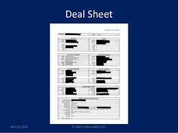 Estate Deal Sheet Template Your Estate Deal From Showing To Closing 4 12 13