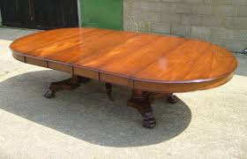 extending pedestal dining table antique furniture warehouse large antique round extending table