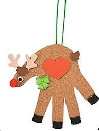 cork handprint reindeer craft kits makes