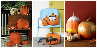 35 halloween pumpkin painting ideas no carve pumpkin decorating