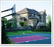Backyard Sport Courts Maryland Backyard Basketball Courts Multi Game Sports Surface