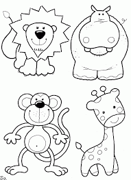 zoo scene coloring pages coloring home