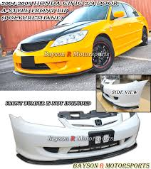 2005 honda civic front bumper a style front lip urethane fits 04 05 civic 2 4dr ebay
