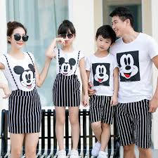 tops striped bottom family clothing 2