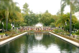 attractive beautiful garden wedding venues los angeles river