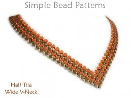 necklace making patterns images V shaped beaded necklace tutorial with half tila beads jpg