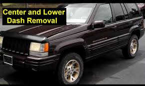 2000 gold jeep grand cherokee center and lower dash removal jeep grand cherokee votd youtube