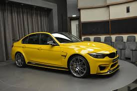 Bmw M3 Yellow 2016 - bmw m3 speed yellow with m performance parts seen in abu dhabi