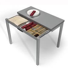 table cuisine petit espace table de cuisine extensible en mélaminé table petit espace