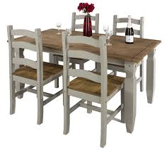 grey dining table set abdabs furniture corona grey washed dining table set