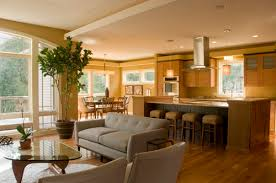 Kitchen And Living Room Flooring Ideas by Small Open Plan Kitchen Living Room Design Pictures Remodel