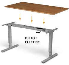 Height Adjustable Desks by Deluxe Electric Adjustable Height Base For Standing Desk Smart