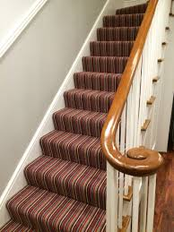 How To Put Rug On Stairs by Black And White Striped Stair Carpet 2 Jpg 999 1 359 Pixels