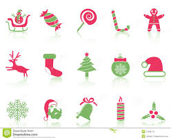 simple christmas icons set royalty free stock images image 27263179