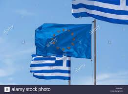 The European Flag The European Flag Flying With Greek Flags Kefalos Kos Cos The