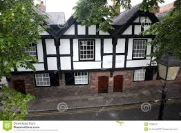 tudor buildings chester england editorial stock photo image