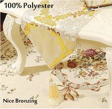 gold table runner and placemats modern gold table runner cloth cover satin flower tablecloth tea bed