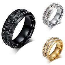 wedding rings luxury images Luxury full diamond wedding ring shinning crystal titanium jpg