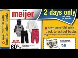 black friday meijer 2017 meijer 2 day sale this weekend august 11 12 2017 youtube