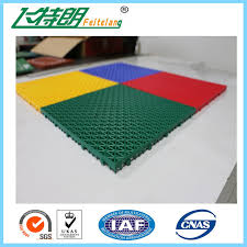 easy installation interlocked rubber floor tiles for court