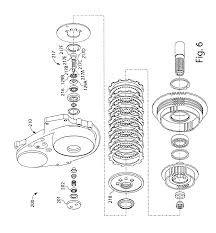 patent us7320390 outboard clutch assembly support and clutch hub