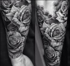 black and grey roses tattoos rose tattoos black and grey black and