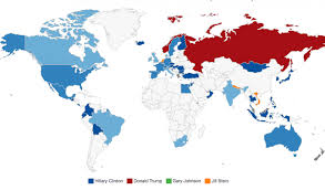 Bill Clinton Electoral Map What The World Is Saying In Our Global Straw Poll On The Us