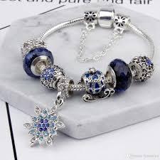 silver bead bracelet diy images Charm beads bracelet 925 silver pandora bracelets snowflake jpg