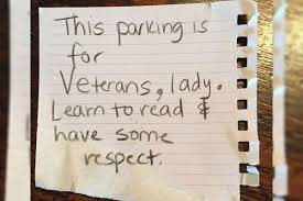 Military To Civilian Resume Builder Navy Vet Says She Got Apology Note After Parking In Vets Only